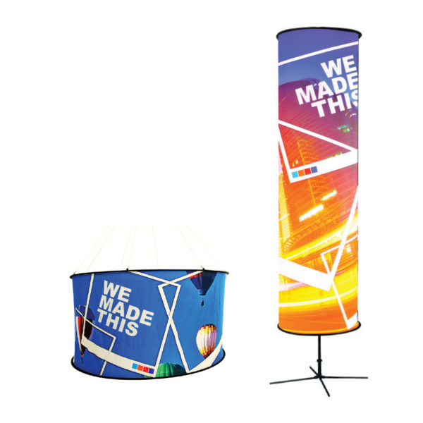 Cylindrical Banners