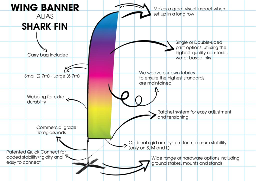 Shark Fin Banner